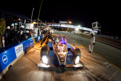 Pit stop for #52 PR1 Mathiasen Motorsports Oreca FLM09: Ken Dobson, Rudy Junco, Elton Julian
