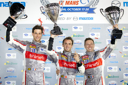 ELMS LMP podium: class winners Mathias Beche, Pierre Thiriet, Christophe Tinseau
