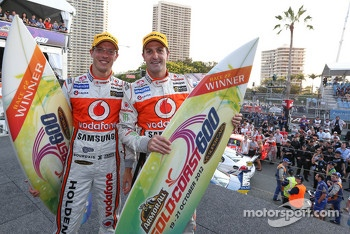 Winners Jamie Whincup and Sbastien Bourdais, Team Vodafone