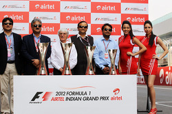 Bernie Ecclestone, CEO Formula One Group, promotes the GP with circuit management