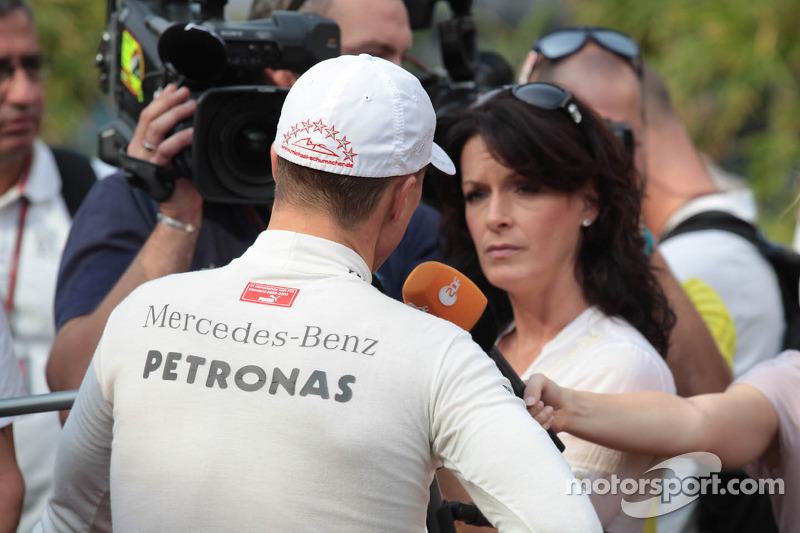 Michael Schumacher, Mercedes AMG Petronas with the media