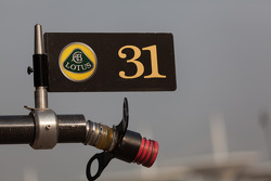 Team Lotus pit stall