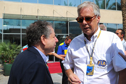 Jean Todt, FIA President with Lars Osterlind, FIA Steward