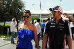 Pastor Maldonado, Williams with his girlfriend Gabriella Tarkany