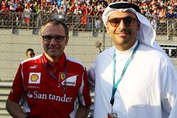 Stefano Domenicali, Ferrari General Director with Sheikh Mansour bin Zayed bin Sultan Al Nahyan (Right)