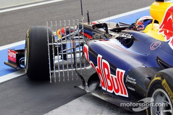 Antonio Felix da Costa, Red Bull Racing Test Driver running sensor equipment