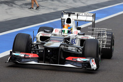 Esteban Gutierrez, Sauber Third Driver with sensor equipment