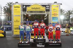 Winners Sébastien Loeb and Daniel Elena, Citroën DS3 WRC, Citroën Total World Rally Team