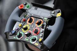 Mercedes AMG F1 steering wheel detail