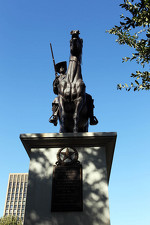 A statue near the Texas Capitol in Austin