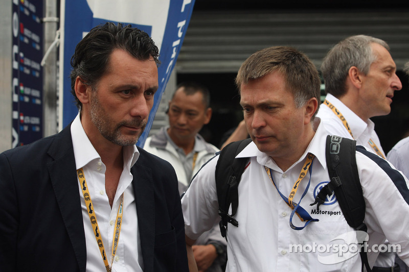 François Ribeiro, Eurosport and Jost Capito, Head of Volkswagen Motorsport