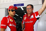 Felipe Massa, Ferrari with Stefano Domenicali, Ferrari General Director