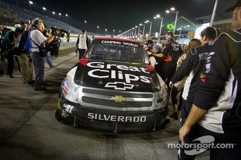 NASCAR Camping World Series 2012 champion James Buescher, Turner Motorsports Chevrolet celebrates
