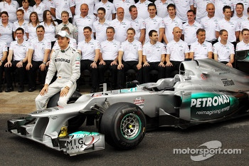 Nico Rosberg, Mercedes AMG F1 at a team photograph