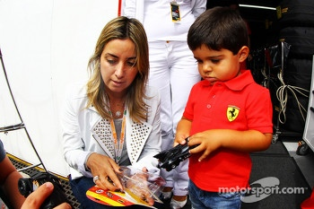 Rafaela Bassi, wife of Felipe Massa, Ferrari, and son Felipinho