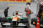 Nico Hulkenberg, Sahara Force India F1 in parc ferme