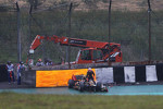 Romain Grosjean, Lotus F1 crashed out of the race
