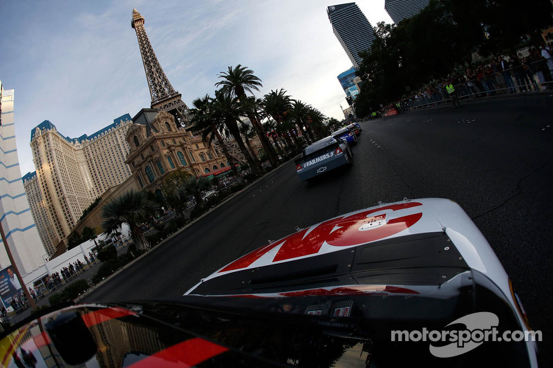 Greg Biffle during the NASCAR Victory Lap at Las Vegas