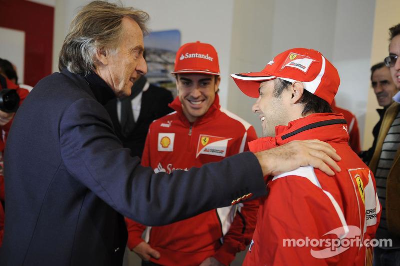 Felipe Massa, Fernando Alonso and Luca di Montezemolo