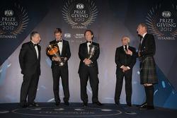 FIA Formula One World Championship - Sebastian Vettel - Christian Horner - Jean Todt - David Coulthard
