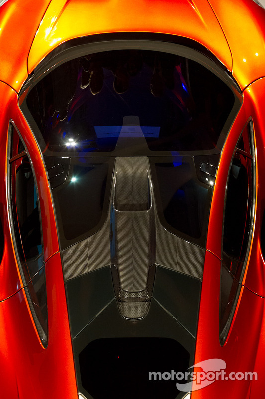 The McLaren P1 bodywork detail