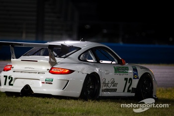 Spin for #72 Park Place Motorsports Porsche GT3: Chuck Cole, Grant Phipps, Mike Vess, Alex Whitman