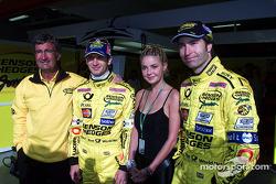 Eddie Jordan, Jarno Trulli and Heinz-Harald Frentzen
