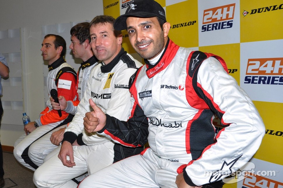 Pole winners Khaled Al Qubaisi, Bernd Schneider, Jeroen Bleekemolen, Sean Edwards
