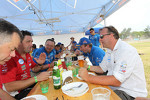 Lunch with the Veka and Kamaz teams