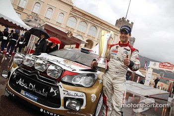 Podium: winner Sbastien Loeb, Citron Total Abu Dhabi World Rally Team
