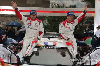 Podium: winners Sbastien Loeb and Daniel Elena, Citron Total Abu Dhabi World Rally Team
