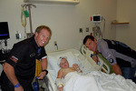 Al Carter and Hugh Plumb visit a children's hospital