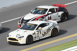 #71 Multimatic Motorsports Aston Martin Vantage: Tonis Kasemets, Michael Marsal and #14 Doran Racing Nissan 370Z: Tim Bell, BJ Zacharias