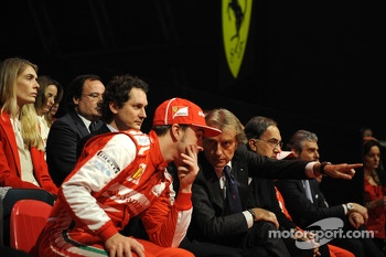 Luca di Montezemolo and Fernando Alonso