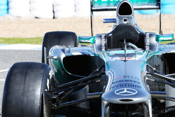 The new Mercedes AMG F1 W04 sidepod detail