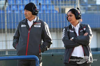 Peter Sauber, Sauber President of the Board of Directors with Monisha Kaltenborn, Sauber Team Principal