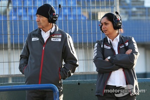Peter Sauber with Monisha Kaltenborn, CEO of the Sauber F1 Team.