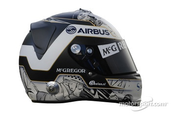 The helmet of Giedo van der Garde, Caterham F1 Team