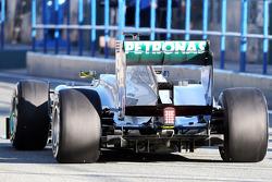 Nico Rosberg, Mercedes AMG F1 W04 rear diffuser
