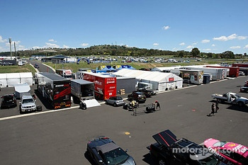 View of the paddock