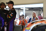 Fans watch Denny Hamlin