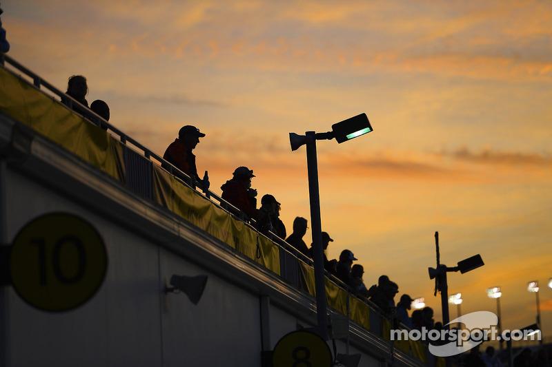 The sun sets on Daytona
