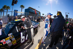 Joe Nemechek, NEMCO Motorsports Toyota and Dale Earnhardt Jr., Hendrick Motorsports Chevrolet