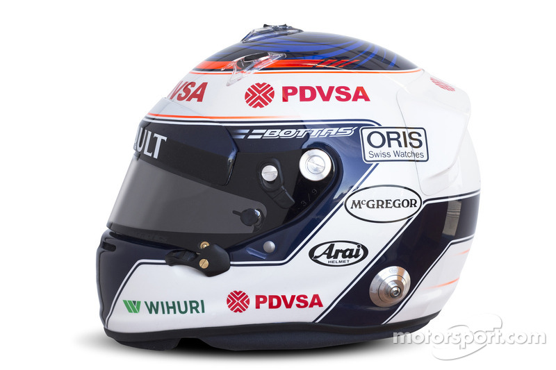 The helmet of Valtteri Bottas, Williams F1