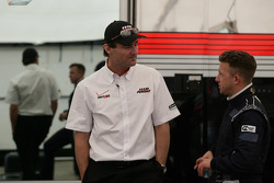 Penske Racing President Tim Cindric with  A.J. Allmendinger, Penske Racing