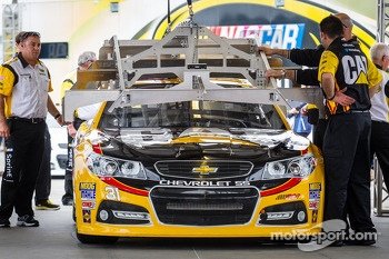 Car of Jeff Burton, Richard Childress Racing Chevrolet at technical inspection