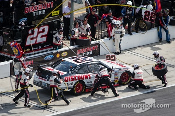 Pit stop for Brad Keselowski