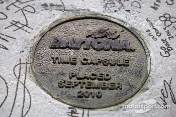 Time capsule at the start-finish line