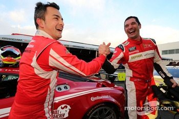 GT pole winner Alessandro Balzan and Max Papis