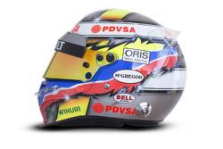 The helmet of Pastor Maldonado, Williams